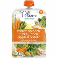 Plum Organics Carrot Spinach Turkey Corn Apple & Potato Stage 3 Baby Food