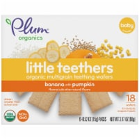 Plum Organics Little Teethers Banana with Pumpkin Teething Wafers