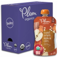 Plum Organics Sweet Potato Apple & Corn Stage 2 Baby Food 6 Count