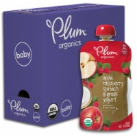 Plum Organics Apple Raspberry Spinach & Greek Yogurt Stage 2 Baby Food Pouch