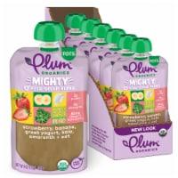 Plum Organics Mighty 4 Strawberry Banana Greek Yogurt Kale Amaranth & Oat Toddler Food Pouches - 6 ct / 4 oz