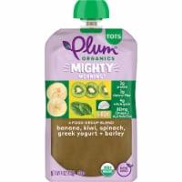 Plum Organics Mighty 4 Banana Kiwi Spinach Greek Yogurt & Barely Food Pouch