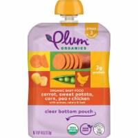 Plum Organics® Carrot Sweet Potato Corn Pea & Chicken Stage 3 Baby Food Pouch - 6 ct / 4 oz