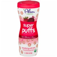 Plum Organics Strawberry with Beet Super Puffs Cereal Snacks - 1.5 oz