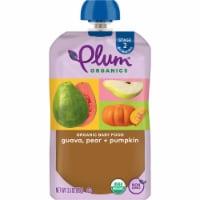 Plum Organics Guava Pear & Pumpkin Organic Stage 2 Baby Food