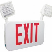 Firehorse Exit Sign,Red Letter Color,2.80W,2 Lamps  FHEC35R - 1