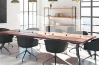Luxor Tabletop & Cubicle Mount Reclaim Acrylic Sneeze Guard Desk Divider  - 48  X 30 , Clear - 1 unit