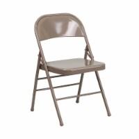 Beige Metal Folding Chair - 1 unit