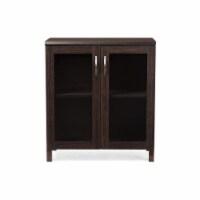 Baxton Studio Sintra Curio Cabinet in Dark Brown - 1