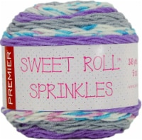Premier Yarns Sweet Roll Sprinkes Yarn-Violet Sprinkles - 1