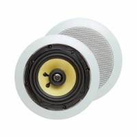 Cmple 5.25  Surround Sound 2-Way In-Wall/In-Ceiling Kevlar Speakers (Pair) - Round - 1 unit