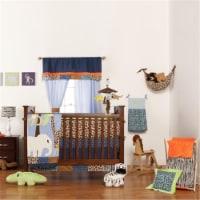 One Grace Place 10-14b010 Jazzie Jungle Boy Crib Sheet - 1
