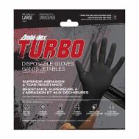 Ambi-Dex Turbo Nitrile Disposable Gloves Large Black Powder Free 10 pk