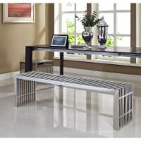 Gridiron Benches Set of 2 - Silver - 1
