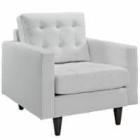 Empress Bonded Leather Armchair - White - 1