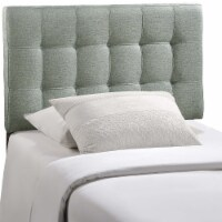 Lily Twin Upholstered Fabric Headboard - Gray - 1