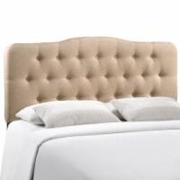 Annabel Full Upholstered Fabric Headboard - Beige - 1