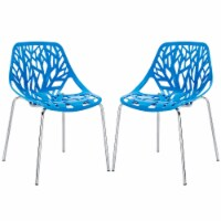 Stencil Dining Side Chair Set of 2 - Blue - 1