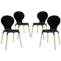 Path Dining Chair Set of 4 - Black - 1