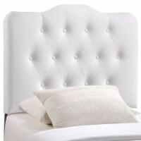 Annabel Twin Upholstered Vinyl Headboard - White - 1