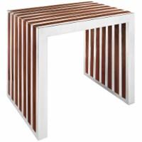 Gridiron Small Wood Inlay Bench - Walnut - 1