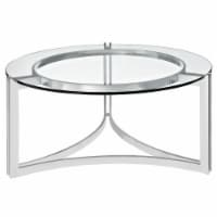 Signet Stainless Steel Coffee Table - Silver - 1