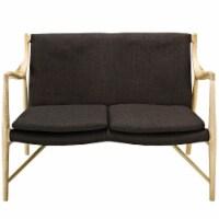 Makeshift Upholstered Fabric Loveseat - Natural Brown - 1