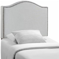 Curl Twin Nailhead Upholstered Headboard - Sky Gray - 1