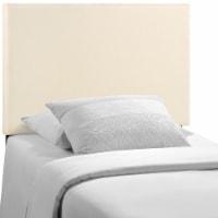 Region Twin Upholstered Fabric Headboard - Ivory - 1