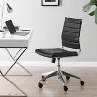 Black Jive Armless Mid Back Office Chair