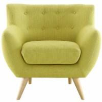 Remark Upholstered Fabric Armchair - Wheatgrass - 1