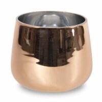 "5""H Gold Round Bottom Glass - 1"