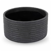 "5""H x 10""W x 10""L,  Black Ceramic Planter - 1"