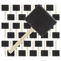 3 inch Foam Sponge Wood Handle Paint Brush Set (Value Pack of 30) - Lightweight, durable - 3 inch - Pack of 30