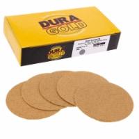 60 Grit - 3  Gold Hook & Loop Sanding Discs for DA Sanders - Box of 20 - 60 Grit - Box of 20