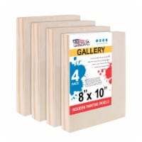 """8  x 10  Birch Wood Paint Pouring Panel Boards, Gallery Series, 1-1/2  Deep Cradle -4 Pack - 8"""" x 10"""" - 4-Pack"""