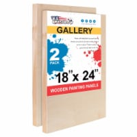 """18  x 24  Birch Wood Paint Pouring Panel Boards, Gallery Series, 1-1/2  Deep Cradle -2 Pack - 18"""" x 24"""" - 2-Pack"""
