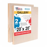 """20  x 20  Birch Wood Paint Pouring Panel Boards, Gallery Series, 1-1/2  Deep Cradle -2 Pack - 20"""" x 20"""" - 2-Pack"""