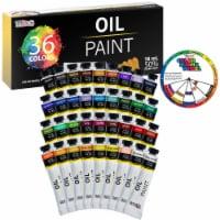 36 Color Set of Art Oil Paint in Large 18ml Tubes - Rich Vivid Colors for Artists, Students - 36 Oil Set - 18ml Tubes