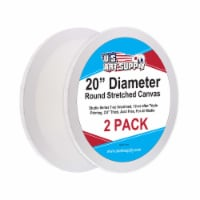 """20 Inch Diameter Round 12 Ounce Primed Gesso Acid-Free Stretched Canvas (Pack of 2) - 20"""" Diameter - 2 Pack"""