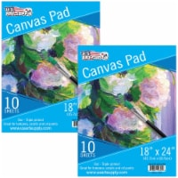 """18  x 24  10-Sheet 8-Ounce Triple Primed Acid-Free Canvas Paper Pad (Pack of 2 Pads) - 18"""" x 24"""" - 2 Pads"""