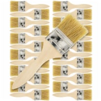 24 Pack of 2 inch Paint and Chip Paint Brushes for Paint, Stains, Varnishes, Glues, and Gesso - 2 Inch - 24 Pack