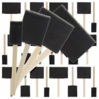 Variety Pack Foam Sponge Wood Handle Paint Brush Set, Pack of 20 Brushes - Lightweight - Brush Set - 20 Pack