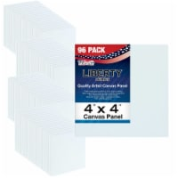 """4  x 4  Professional Artist Quality Acid Free Canvas Panel Boards for Painting 96-Pack - 4"""" x 4"""" - 96-Pack"""