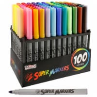 Set with 100 Unique Marker Colors - Universal Bullet Point Tips for Fine and Bullet Lines - 100 Marker Set