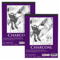 """9 in. x 12 in. Heavy-Weight Charcoal Paper Pad, 160gsm, 90 Pound, 32 Sheets (Pack of 2) - 9"""" x 12"""" - 2 Pads"""