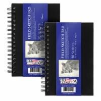 "5.5  x 8.5  Premium Hardbound Field Sketch Pad, 70 Pound (110gsm), Book of 80-Sheets (2 Pads) - 5.5"" x 8.5"" - 2 Pads"