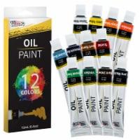 12 Color Set of Art Oil Paint in 12ml Tubes - Rich Vivid Colors for Artists, Students - 12 Oil Set - 12ml Tubes