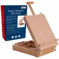 Newport Small Adjustable Wood Table Sketchbox Easel - Portable Wooden Artist Storage Case - Easel