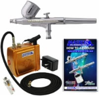 Airbrushing System Kit with Mini Air Compressor - Gravity Feed Dual-Action Airbrush, Hose - Airbrushing System